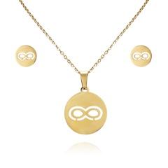 Women Heart Flower Feather Butterfly Necklace Pendant Earrings Jewelry Set Infinite8
