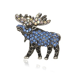 Cute Small Deer Elephant Brooches for Women Bucks Sika Deer Animal Brooch Pin Clothes Accessories Kids Gift Wapiti