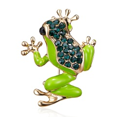Enamel Butterfly Peacock Frog Dragonfly Brooches Insect Animal Brooch Pin Jewelry Gifts Accessories frog
