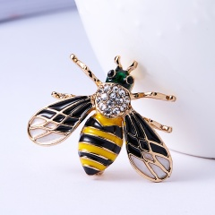 Animal Insects Brooches Enamel Bee Grasshopper Caterpillar Brooch Pins Women Kids Coat Suit Clothes Accessories Insect 1