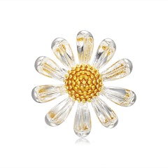 Rinhoo Pink Sun flower Daisy Bouquet Enamel Brooches Metal Flowers Weddings Banquet Brooch Pins For Women And Men Flower 3