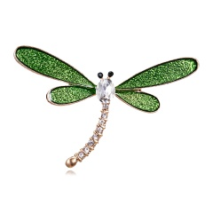 Fashion Animal Insect Brooches Colorful Couple Birds Dragonfly Turtle Crystal Rhinestone Brooch Pin for Women Lady Costume Jewelry dragonfly