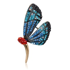 Animal Insect Series Bee/Flower/Butterfly/Forg Enamel Brooch Collar Needle Men and Eomen Shirt Collar Clip Pin Clothing Decoration butterfly