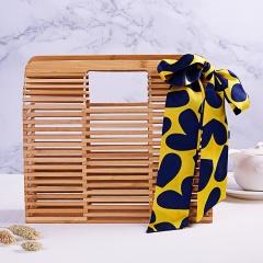 Woven Rattan Bag Straw Shoulder Bag Beach HandBags Women Summer Hollow Handmade bamboo weaving bay