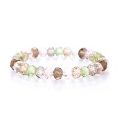 Rinhoo Fashion Colorful Beaded Handmade 8MM Beads Balls Charm Stretchy Elastic Bracelet Bangles Adjustable Jewelry For Men Women Bracelet 3