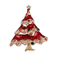 New Christmas Tree Snowman Brooches for Women Fashion Jewelry Festival Enamel Brooch Pins Good Gift Winter Coat Cap Brooch Red Christmas tree