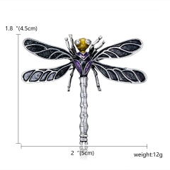 Fashion Dragonfly Brooches For Women 2019 Vintage Multicolor Crystal Rhinestone Insect Brooch Pins Animal Jewelry Dropshipping Dragonfly 1