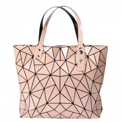 Geometric Rhombus Folding Bags40*32*7cm Pink