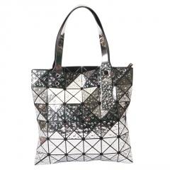 Geometric Ringer Droplet Handbag32.5*32.5cm Silver