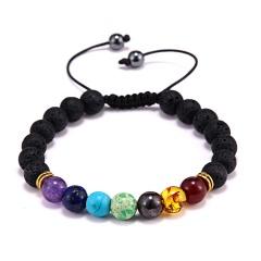 Rinhoo Fashion 7 Chakra Healing Yoga Reiki Prayer Beads Balance Beaded Warp Bracelet Braided Bangle Jewelry For Women Bracelets Bracelet 6