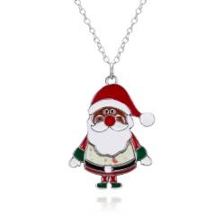 Fashion Christmas Enamel Brooch Pin Gift Santa Claus