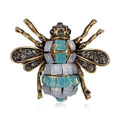 Women Delicate Little Bee Brooches Shiny Crystal Rhinestone Pin Brooch Enamel Brooches Jewelry Gifts For Women Men Brooch Bee 3