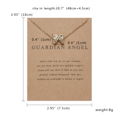 Lovely Cat Hummingbird Paper Card Necklace Women Men Jewelry Charm Gift Party Wings