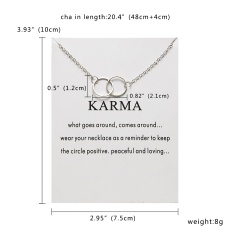 Fashion Round Circle Necklace Charm Chain Women Jewelry Party Gift Silver Circle