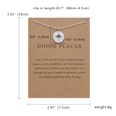 Fashion Gold/Silver Compass Pendant Necklace Chic Jewelry Costume Party Gift Silver