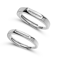 personalized Custom Steel Stainless Rings Lover Lover Rings