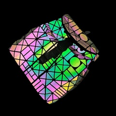 Geometric Diamond Noctilucent Backpack The geometric model