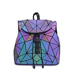 Geometric Diamond Noctilucent Backpack Irregular triangle