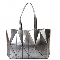 Geometric Folding Rhombus Handbags Silver