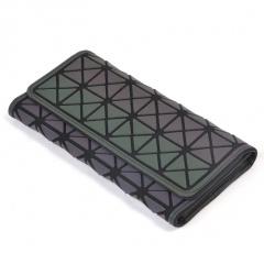 Geometric Luminous Diamond Long Zipper Wallet For Hand19*10.5*2.5cm The triangle model
