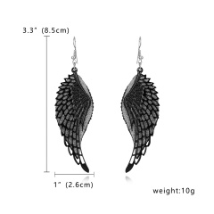 Bohemian Geometric Jewelry Wings / Leaves / Butterfly Hollow Frosted Earrings Wings