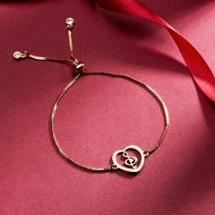 Gold Color Family Charm Bracelets Father Mother Girl Boy Rose Flower Mom Pendant Bracelet Fashion Jewelry Mother's Day Gift Bracelet 1