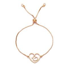 Gold Color Family Charm Bracelets Father Mother Girl Boy Rose Flower Mom Pendant Bracelet Fashion Jewelry Mother's Day Gift Bracelet 9