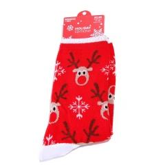 Christmas Lovely Socks Women Men Gift Santa Claus Elk Snowflake Warm Winter Xmas Red