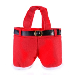 Santa Claus Pants Christmas Candy Bag Wine Bottle Gift Home Party Gift Decor Red