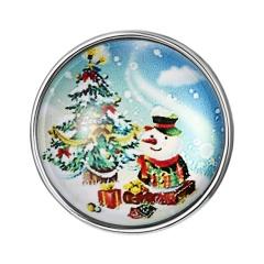 Snowman Tree Christmas Time Gemstone Button Bracelet Accessories Christmas tree