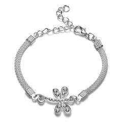 RINHOO 925 Silver Jewelry Bracelets For Women Fashion Bangle Wedding Banquet Butterfly Owl Key Flower Dragonfly Cross Bracelets Bracelet 2