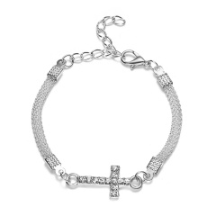 RINHOO 925 Silver Jewelry Bracelets For Women Fashion Bangle Wedding Banquet Butterfly Owl Key Flower Dragonfly Cross Bracelets Bracelet 6