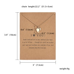 Women Charm Heart Pendant Necklace Gold Clavicle Chain Choker Fashion Jewelry Gift Love Heart