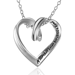 Fashion Silver Heart Shape Pendant Necklace Alloy Jewelry Wholesale Heart