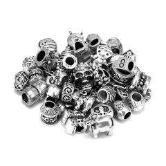 Silver Alloy Beads Accessories Silver