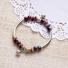 RINHOO Lucky Rope Bracelet Red Colour Minimalist Beaded Rope String Lucky Bracelets Heart Star For Women Lovers Bead Jewelry ceramics
