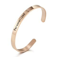Personalized Engraved Custom Name Stainless Steel Bracelet Jewelry Name Words Letters Custom Bracelet & Bangle For Women men Bangle 5