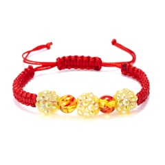 Crystal Beaded Hand-woven Bracelet Crystal
