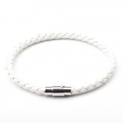 Punk Retro Wrap Long Leather Braided Bracelet Men Bangles Black Blue Sporty Chain Male Charm Bracelet 4 Layers white