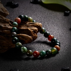 High Quality Natural Stone Colorful Beaded Bracelet Classic Elasticity Rope Yoga Bracelet For Men Women Best Friend Jewelry Gift Bracelet 1