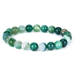 High Quality Natural Stone Colorful Beaded Bracelet Classic Elasticity Rope Yoga Bracelet For Men Women Best Friend Jewelry Gift Bracelet 2