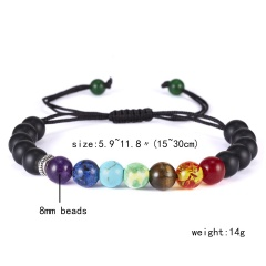 2019 Newst 7 Chakra Bracelet Men Black Lava Healing Balance Beads Reiki Buddha Prayer Natural Stone Yoga Bracelet For Women chakra bracelet  4