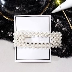 Pearl Flower Hairpin Hair Accessory Rectangle