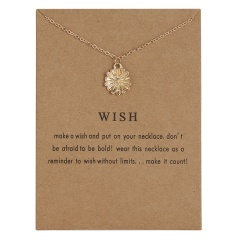 Simple Sun Leaf Wing Charms Pendant Chain Necklace Womens Fashion Jewellery Floral