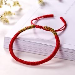 RINHOO Vintage Tibetan Buddhist Love Lucky Charm Tibetan Bracelets & Bangles For Women Men Handmade Knots Rope Budda Bracelet Red