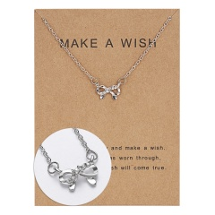 Wholeslae Paper card necklace pendant clavicle chain #1
