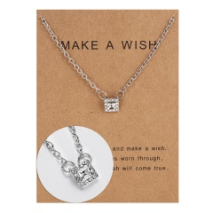 Wholeslae Paper card necklace pendant clavicle chain #11