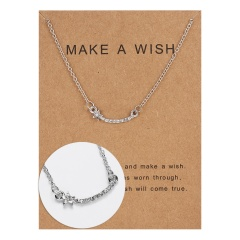 Wholeslae Paper card necklace pendant clavicle chain #15