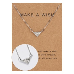 Wholeslae Paper card necklace pendant clavicle chain #3