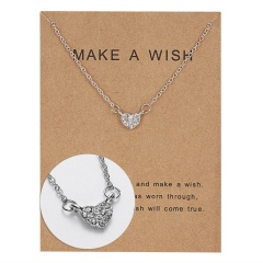 Wholeslae Paper card necklace pendant clavicle chain #5
